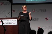 RADCLIFFE INSTITUTE FELLOW'S PRESENTATION <em>Photo: Kevin Grady/Radcliffe Institute</em>